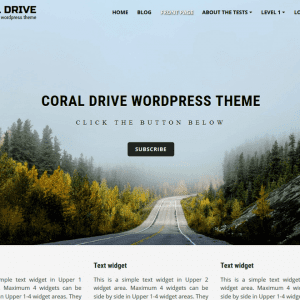Free Coral Drive WordPress theme