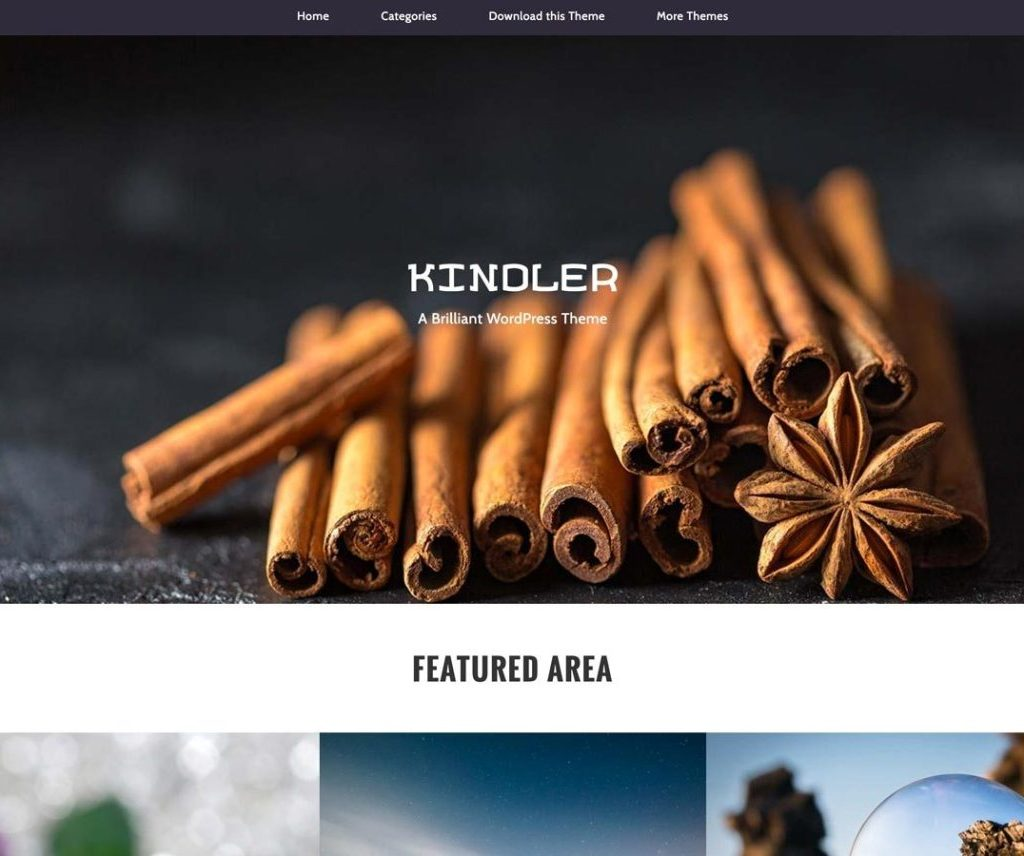 Free Kindler WordPress theme