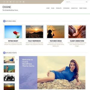 Free Oxane WordPress Theme