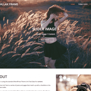 Free Parallax Frame WordPress theme