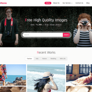Free Photomania WordPress Theme