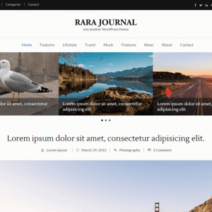 Free Rara Journal WordPress Theme