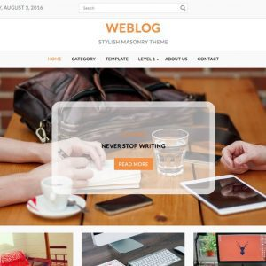 Free Weblog WordPress Theme