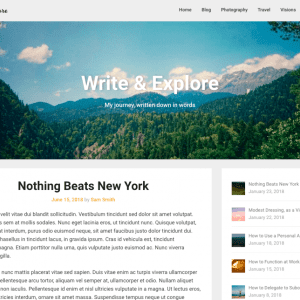 Free Corporately Blogging WordPress theme