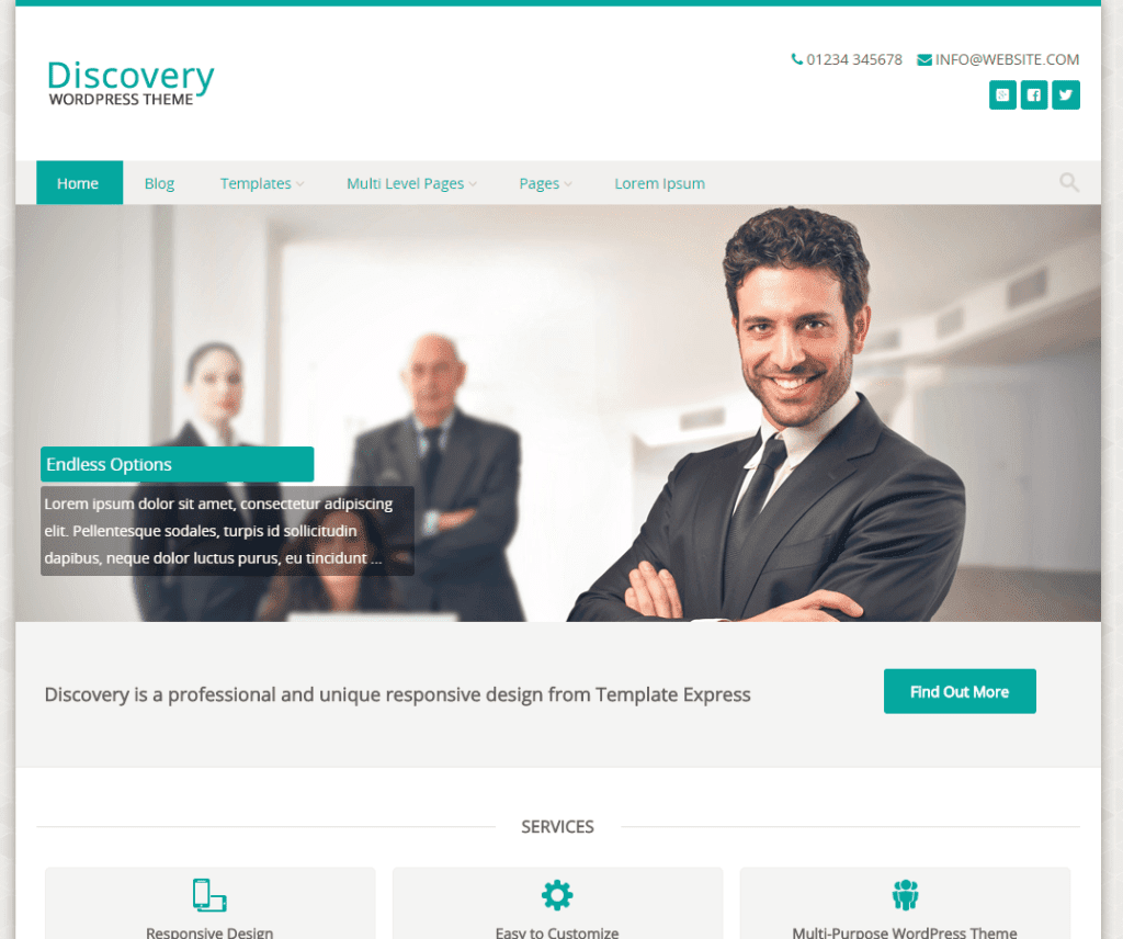 Free Discovery WordPress Theme