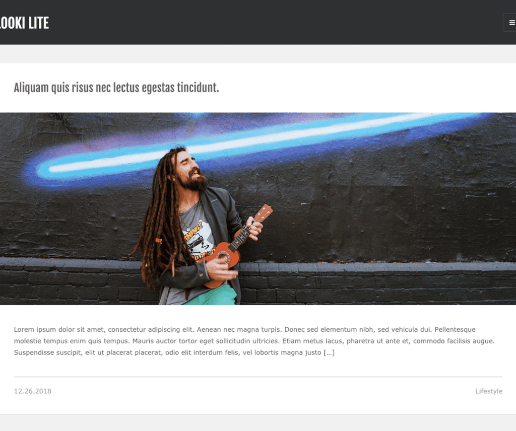 Free Looki Lite WordPress theme