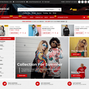 Free Shopical WordPress theme