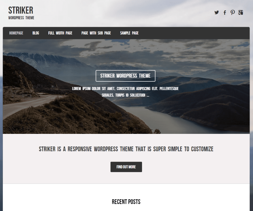 Free Striker WordPress Theme