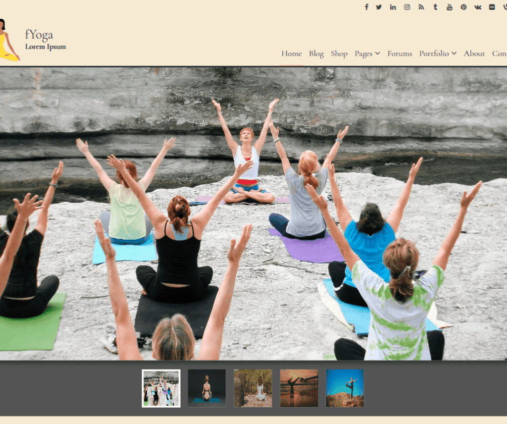 Free fYoga WordPress Theme