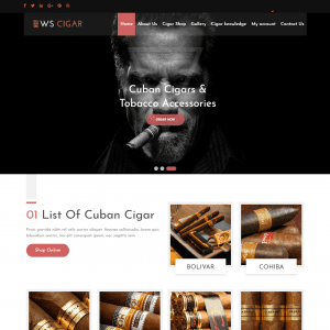 WS Cigar WordPress Theme