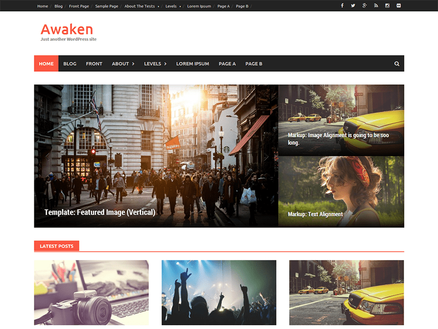 Free Awaken WordPress Theme