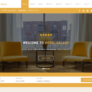 Free Hotel Galaxy WordPress Theme