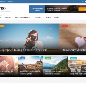 Free Metro Magazine WordPress Theme