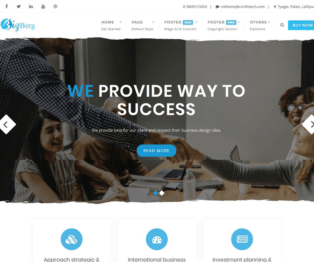 Free Bizberg WordPress Theme