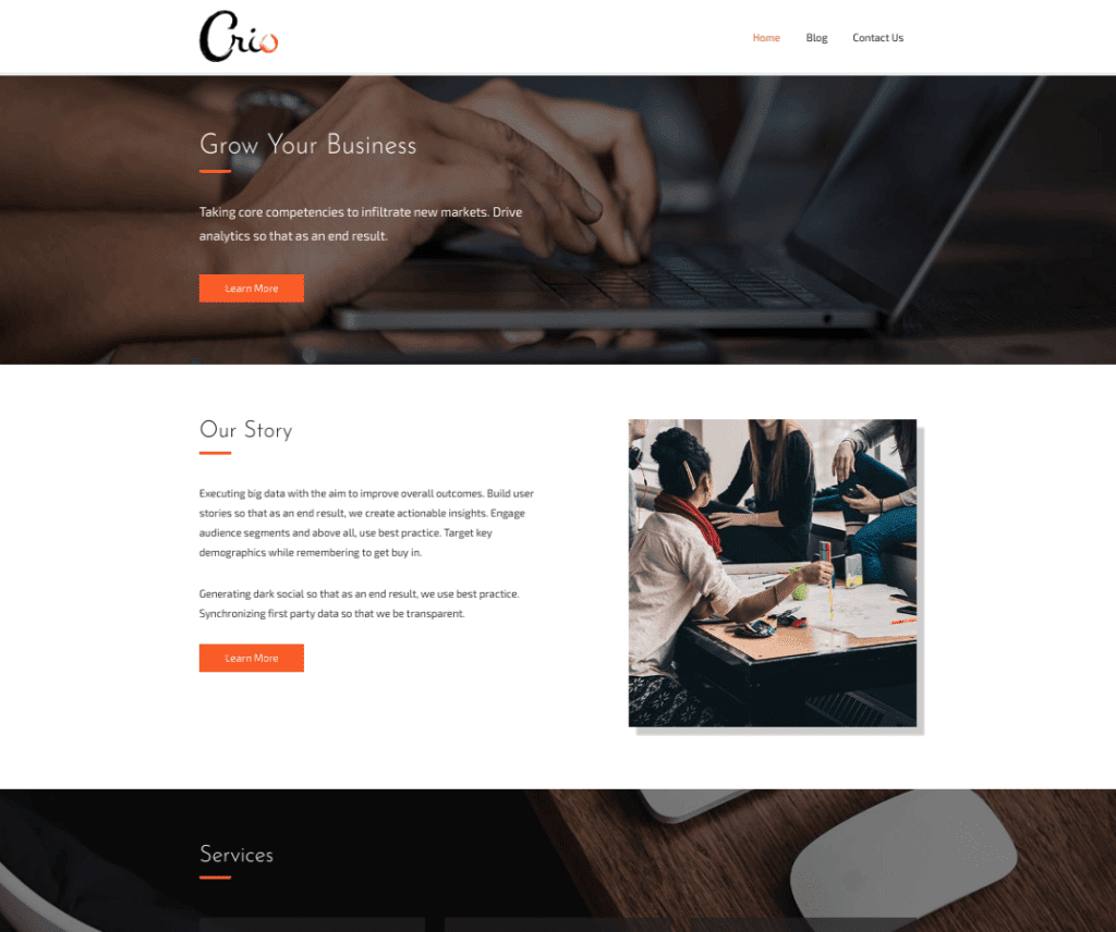 Free Crio WordPress Theme