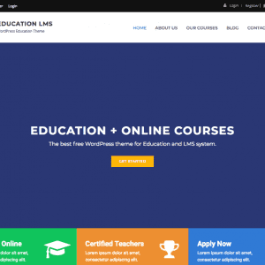 Free Education LMS WordPress Theme
