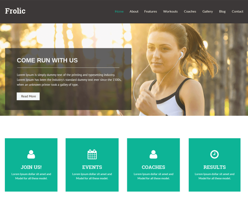 Free Frolic WordPress Theme
