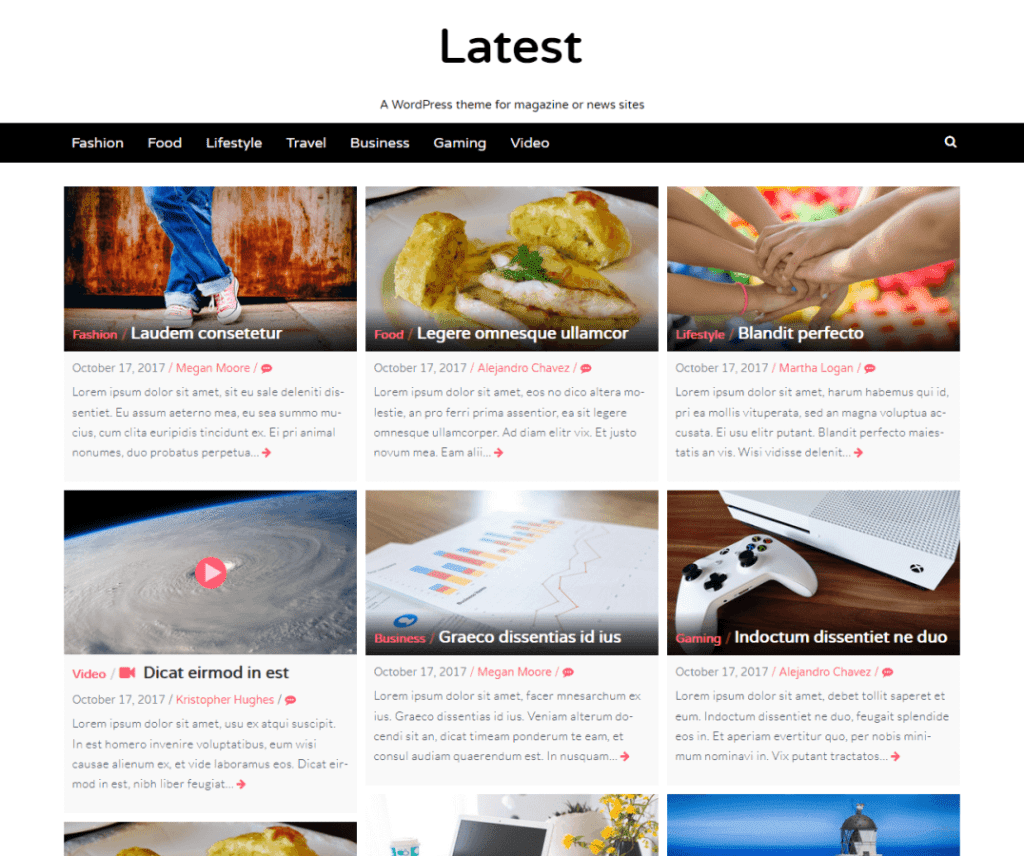 Free Latest WordPress Theme