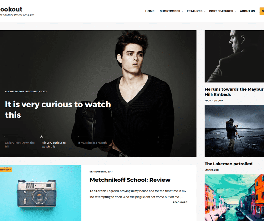 Free Lookout WordPress Theme
