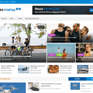 Free News Portal Lite WordPress Theme