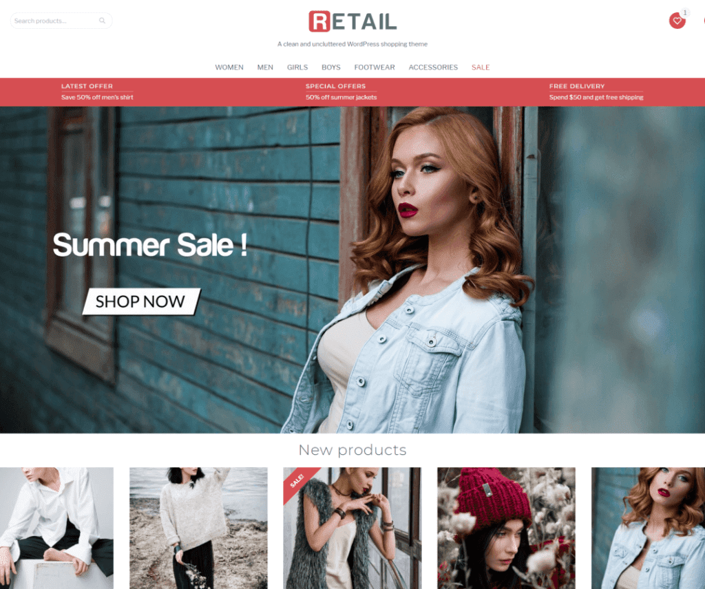Free Retail WordPress Theme