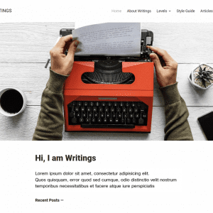 Free Writings WordPress Theme