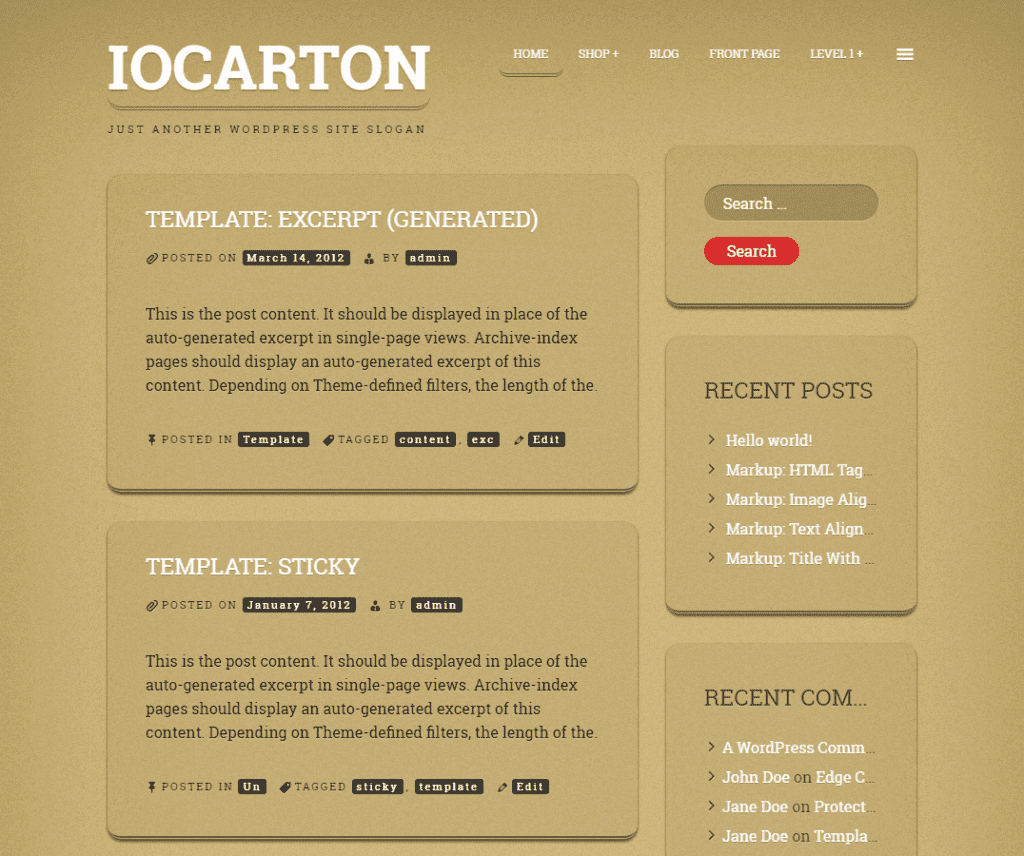 Free ioCarton WordPress Theme