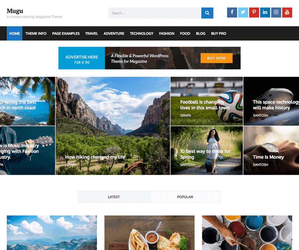 Free Mugu WordPress Theme