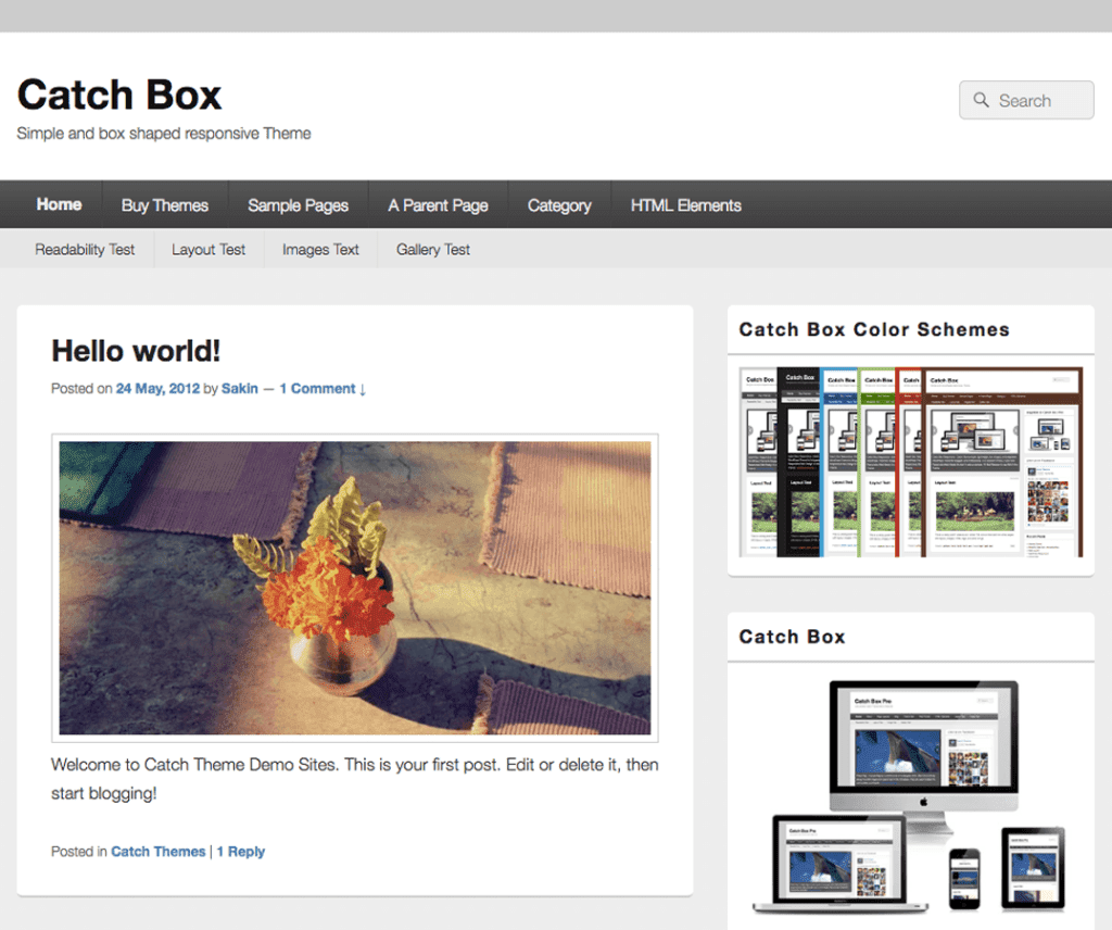 Free Catch Box WordPress Theme