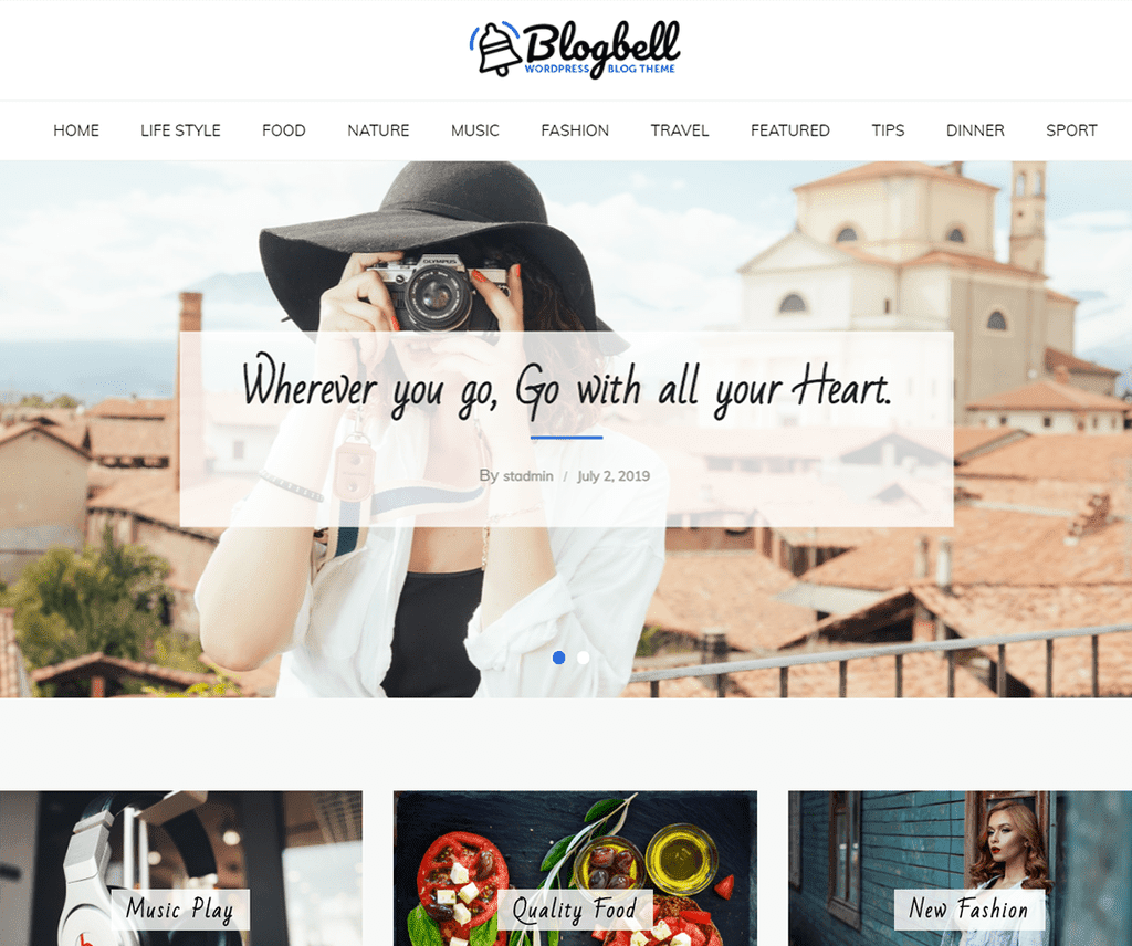 BlogBell Free WordPress Blog Theme - Freemium Download